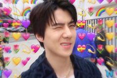 Funny Kpop Memes, Exo Memes, Foto Sehun, Exo Lucky One, Exo Stickers, Sehun Cute, Exo Lockscreen, Hello My Love, Hunhan