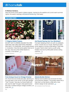 Are you on @Hometalk yet #gardenchat? It's the new garden & home social media hub w/a facebook following of more than 500K. My post on Edible Flowers was featured in their newsletter this week. Join the fun!