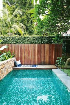 37 Amazing Small Pool Design Ideas On a Budget. Does not imply you can not delight at a pool of your life, just because you have got a backyard. Therefore, if you are eager to create swimming pool on . Small Swimming Pools, Small Pools, Swimming Pools Backyard, Swimming Pool Designs, Swimming Pool Tiles, Indoor Swimming, Small Yards With Pools, Inground Pool Designs, Pool Decks