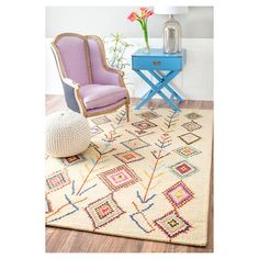 nuLOOM Hand Tufted Belini Rug - Multi-Colored available at Target