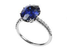 4.69ct Burmese Sapphire Diamond Ring - No Heat treatment to Sapphire GRS cert. http://www.luciecampbell.com/other-rings/All/1181--/  £ContactUs  Lucie Campbell jewellers Bond Street