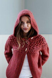 bd0d341c92fd Adult Knitting Patterns. Cable Yoke Jacket