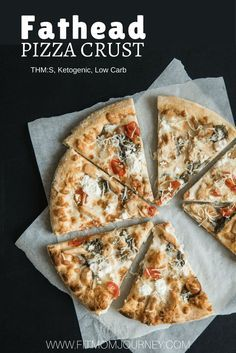 Ever had Fathead Pizza Crust? If you're ready for a great Keto alternative to traditional crust, try this Fathead Pizza Dough recipe - it's delicious, filling, and on-plan! #keto #ketogenic #trimhealthymama #lowcarb