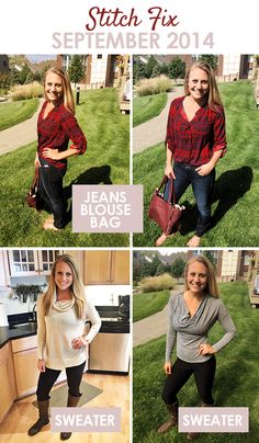Stitch Fix September 2014 - Fit Foodie Finds Love first two outfits - not a huge fan of cowel-neck