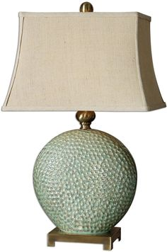 "0-003488>29""""h Destin 1-Light Table Lamp Aquamarine Glaze"