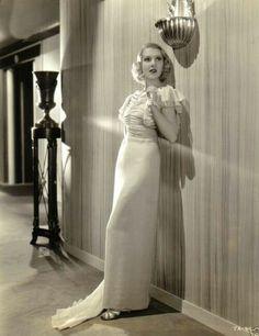 Jean Arthur, The Ex-Mrs. Bradford, 1936 (gown by Bernard Newman)