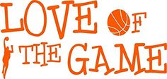 Top Selling Decals  Prices Reduced  Love Of the Game Basketball Sports Boy Girl Kids Bedroom Gym Play Picture Art  ticker  Vinyl Wall Size  12 Inches X 20 Inches  22 Colors Available >>> To view further for this item, visit the image link. (Note:Amazon affiliate link)