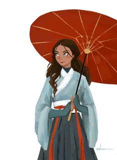 laraapollo: Katara in traditional dress - pro ponytail zuko look Korra Avatar, Team Avatar, Legend Of Korra, Fanart, Tai Lee, Chihiro Cosplay, Akira, Avatar Series, Avatar The Last Airbender Art