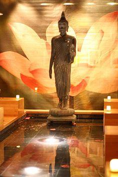 Modern Elegant Thai Restaurant Interior Design SEA Las Vegas Buddhist Statues