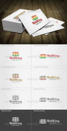 King Security Logo  #GraphicRiver         King Security Logo is a designed for Any types of companies. It is made by simple shapes Although looks very professional. The final file includes 8 variations of the Logo.  Featured: 	 	 Unique Slogan 		 AI CS3 Document 		 EPS CS & v10 Document 		 PDF Document 		 CMYK – 100 % Vector (Re-sizable) 		 8 Variations (Color, B/W & Inverts) 	  	 The free fonts used in the design are: Caudex  Which can be downloaded here -  .fontsquirrel /fonts/caudex…