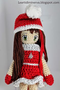 free pattern :  Christmas doll Amigurumi by MaryJ Handmade
