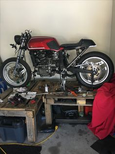 Cx 500 got the basics done. Now for exhausts and electrics.