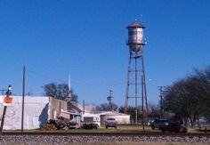 Old Abbott water tower (Abbott, Texas, is the childhood hometown of Willie & Bobbie Nelson.)