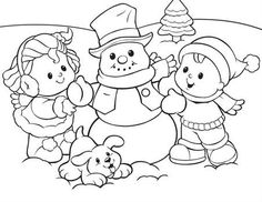 1000 images about fisher price coloring pages on for Little people coloring pages
