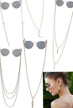 Sunglass Chains - Holiday Gift Pack (5) Cordinha Oculos, Cordão Para Oculos, 22307c715c