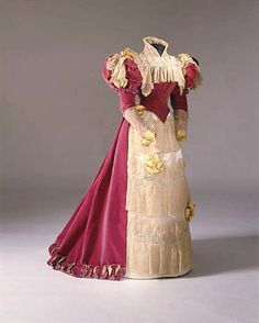 Evening Dress Made Of Silk, Cotton, Linen And Glass, By Mme. Jeanne Paquin, House Of Paquin - French c.1900-1905  -   The Metropolitan Museum of Art