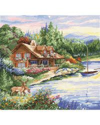 This features a fun outdoors design that will look great as part of any room in your house once the kit is completed. This package contains a 14-count Aida cloth; embroidery floss; needle and instructions. Design size: 15x15 inches.