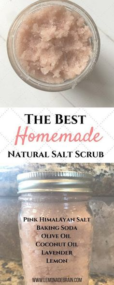 Hands down, this is my favorite DIY salt scrub of all time and goodness knows I need me some salt scrub right now! What with this dry winter, sickness and my hands constantly either being washed or in home cleaners, my hands have become a mess! #homemadesoap