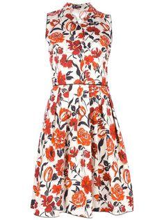 JIL SANDER NAVY - floral a-line dress 1