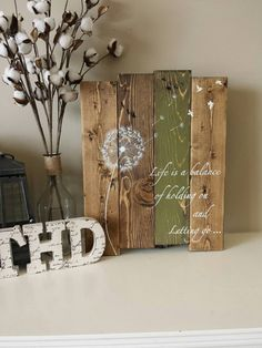 Reclaimed wood sign Life is a balance of holding by TinHatDesigns