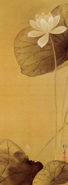 The White Lotus, Edo period, 19th century Sakai Hoitsu