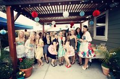 Ladies: steal this idea for a '50s housewife-themed bridal shower. We're talking the perfect excuse to break out your biggest most colorful fashions, show off your sexy pinup collection…