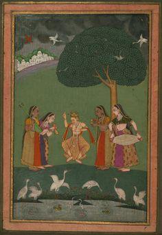 Megha Raga - Miniature Painting, Deccan school, Ragamala series, 19th Century. Digital Walters.