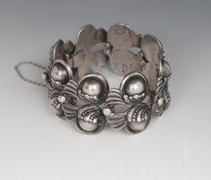 Bracelet |  Margot de Taxco.  Sterling silver.  c. late 1940s.