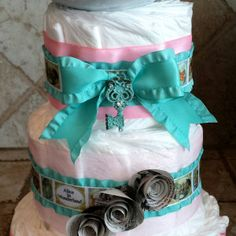Vintage Alice in Wonderland Diaper Cake by 209 Diaper Cakes & Gifts