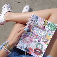 converse bracelets tumblr girl notebook collage
