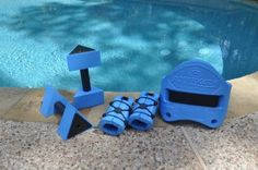 I LOVE the AquaJogger.  You can get a great low impact workout while watching your kids splash in the pool!