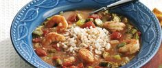 Looking for a spicy seafood dinner using vegetables? Then serve shrimp gumbo over rice - a dish that's ready in 35 minutes!