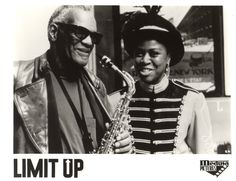 Ray Charles (as the archangel Julius) and Danitra Vance in the movie Limit Up (1989).