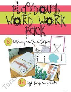 Playdough Word Work Pack (Literacy Center Activities) - our MOST POPLUAR item #Einstein #happy #bday