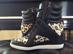 Cheeta Print Wedge Sneakers - Alicia Keys