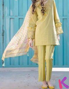 My Dressing Style: Casual Style . Pakistani Style kira n bra. Simple Pakistani Dresses, Pakistani Fashion Casual, Pakistani Dress Design, Pakistani Outfits, Indian Fashion, Fashion Fashion, Fashion Ideas, Pakistani Bridal, Fashion Dresses