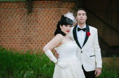 Rock 'N Roll Wedding Lidia + Joakin By Dani Alda Photography 073 1950s Rock And Roll, Rock N Roll, Vintage Groom, Red Color Schemes, Red Accents, Wedding Couples, Formal Dresses, Wedding Dresses, Got Married