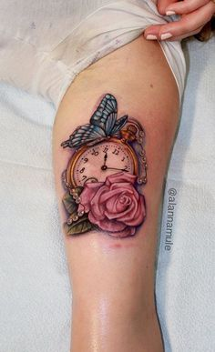 Bildergebnis für POCKET WATCH BUTTERFLY TATTOO
