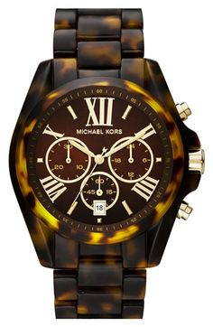 Michael Kors 'Bradshaw' Chronograph Resin Bracelet Watch, 43mm available at #Nordstrom