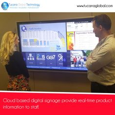 #Cloud based #digitalsignage provide real-time #product #information to #staff. #‎TucanaGlobalTechnology‬ ‪#‎Manufacturer‬ #HongKong