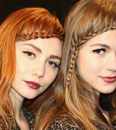 Hairstyle Trends for Fall/Winter 2014; On the NY catwalks, Nanette Lepore styled her models hair with a French plait; creating a playful look.  #hair #fall2014 #beautyinthebag