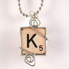 Scrabble Letter K Pendant My Beautiful Daughter, Beautiful Words, Scrabble Letters, Letter K, Jewelry Accessories, Unique Jewelry, Letters And Numbers, Fun Projects, Jewelery