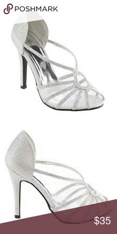 Brand new marichi mani homecoming heels Brand new never worn still in box Formal style strappy silver rhinestone sandal heels. Great for prom, homecoming, or weddings. marichi mani Shoes Heels