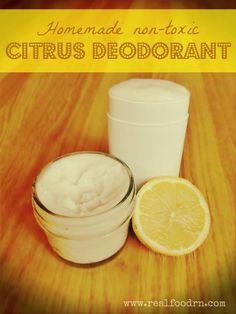 Non-toxic Citrus Homemade Deodorant