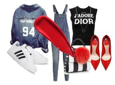 """""""Spring Red Mood"""" by imp-in-pink ❤ liked on Polyvore featuring Cheap Monday, Christian Dior, adidas, Les Petits Joueurs and Sisley"""