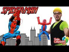 Spiderman Balloon Tutorial - Sculture di Palloncini - Tutorial 102 - Feste Compleanni - YouTube