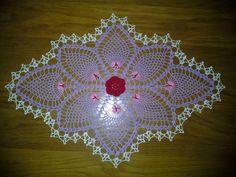 Crochet Butterfly Pineapple Doily