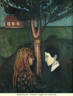 Edvard Munch. Eye in Eye. Olga's Gallery.