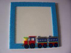 Hama train photo frame