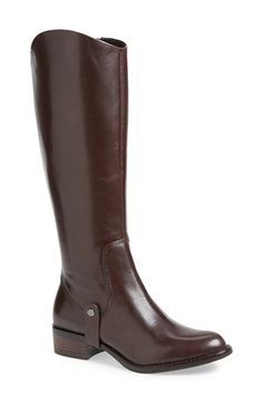 """Free shipping and returns on Via Spiga 'Carol' Riding Boot (Women) at Nordstrom.com. <p><B STYLE=""""COLOR:#990000"""">Pre-order this style today! Add to Shopping Bag to view approximate ship date. You'll be charged only when your item ships.</b></p><br>Exquisitely cool and composed, this streamlined riding boot has a side-swept, Spanish shaft that creates curves in all the right places."""